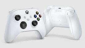 a photo of the xbox series x and s controller, the official one from microsoft, in white