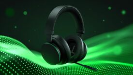 a stylised photo of Microsoft's Xbox wireless headset
