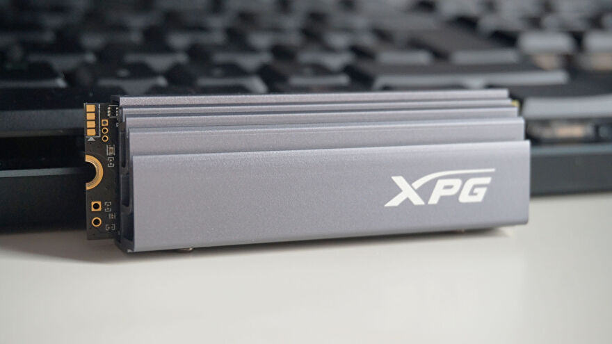 A photo of the Adata XPG Gammix S70 SSD