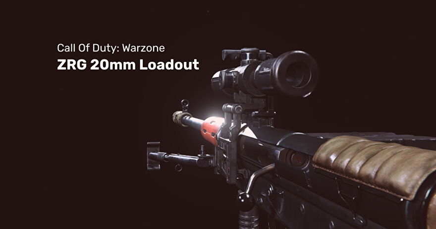 The ZRG 20mm sniper rifle from Warzone on a blank background.